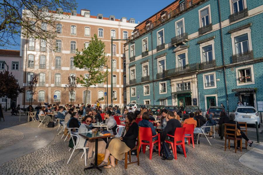 Terrasses de bars à Graça, Lisbonne