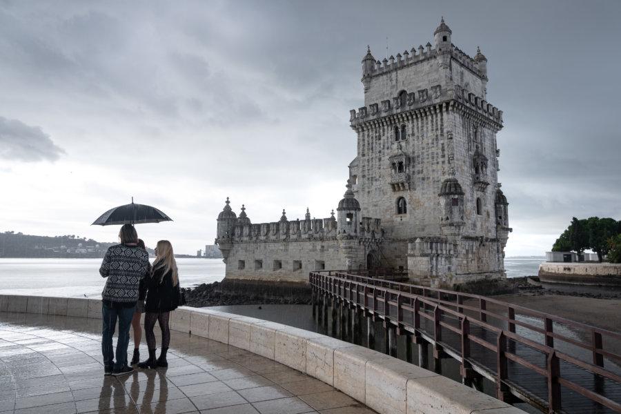 Tour de Belém sous la pluie