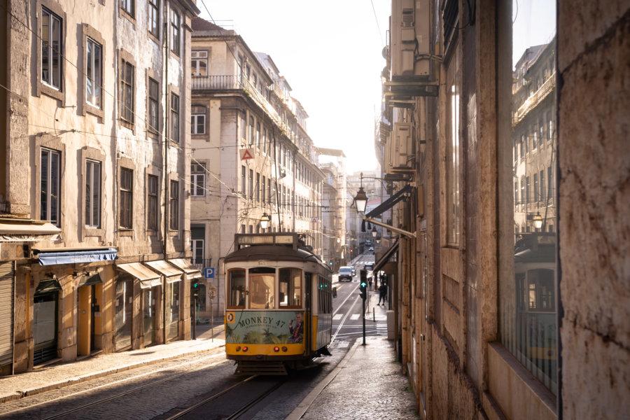 Tramway à Lisbonne, Baixa