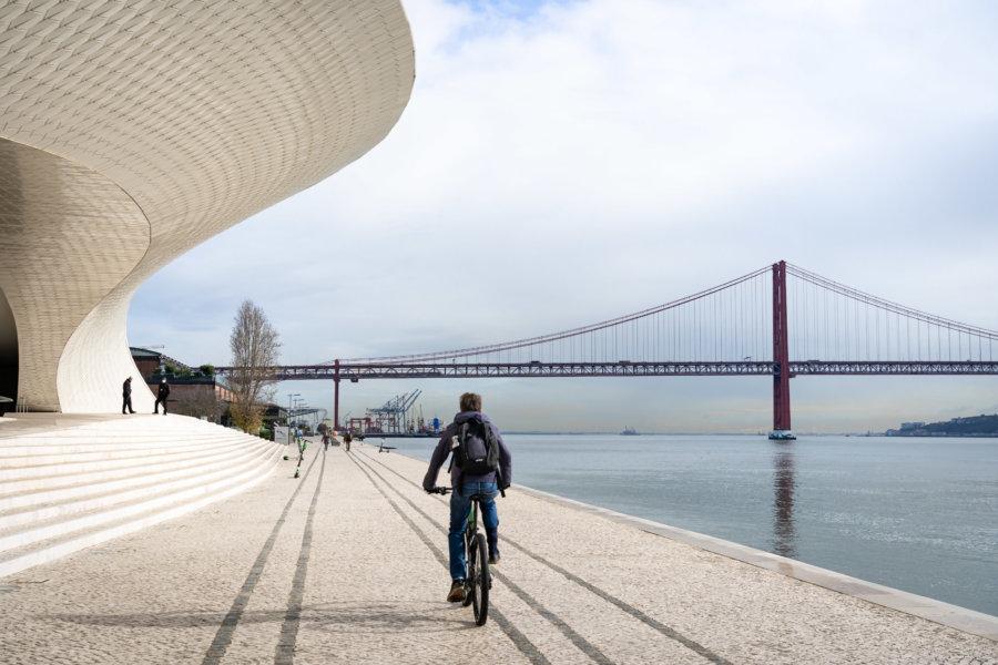 Vélo entre Lisbonne et Belém