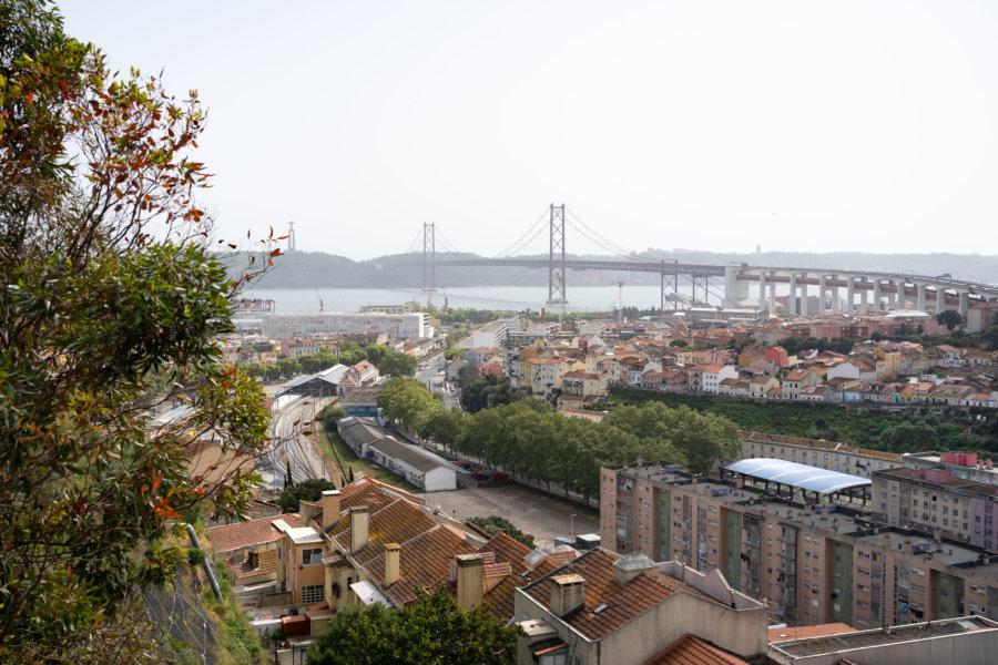 Vue sur Lisbonne depuis le cimetière dos Prazeres