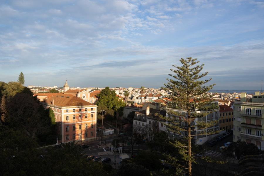 Vue sur Lisbonne depuis la basilique d'Estrela