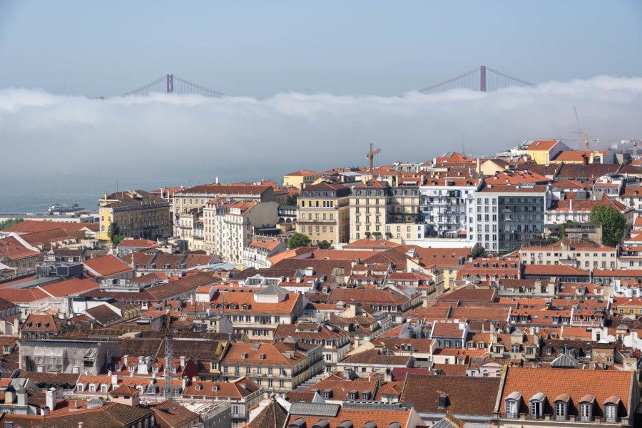 Vue sur Lisbonne depuis le château