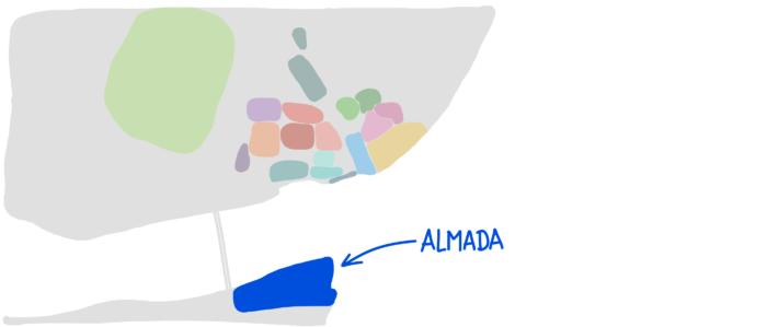Carte Almada Portugal