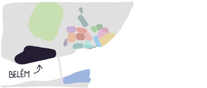 Carte Belem Lisbonne