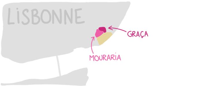 Carte Mouraria Graça Lisbonne