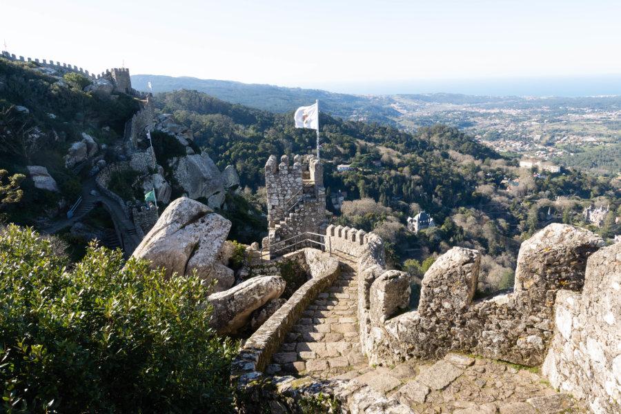 Visite du château des Maures à Sintra