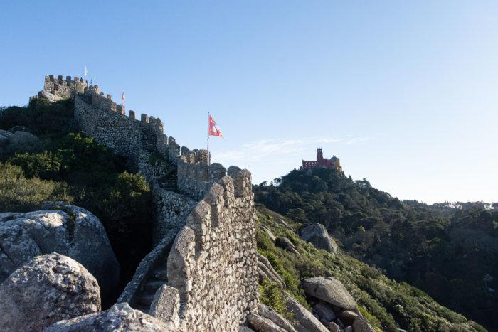 Château des Maures et palais de la Pena à Sintra