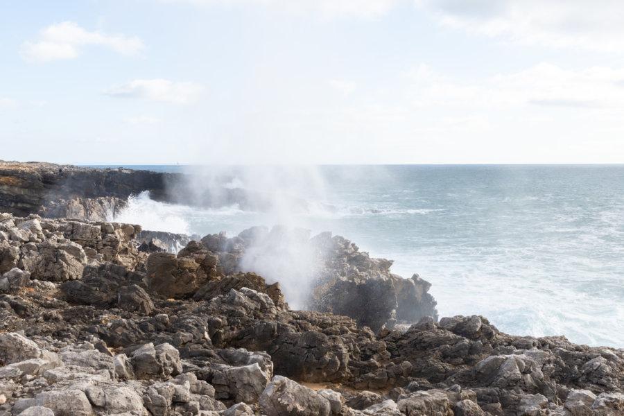 Vent et rochers sur la côte d'Estoril