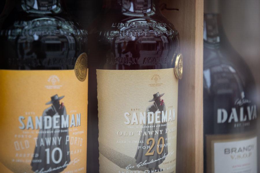 Bouteilles de vin de Porto Sandeman
