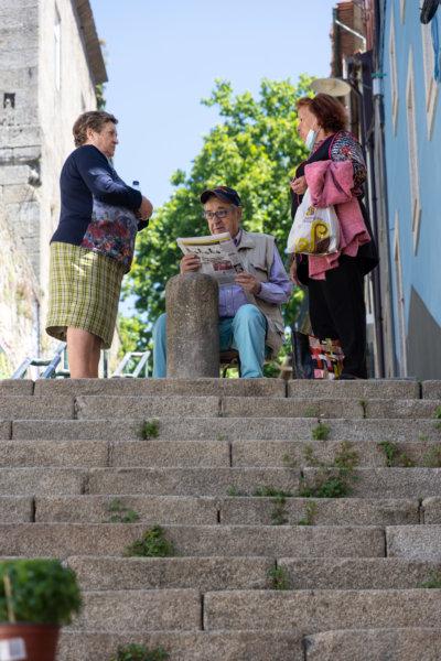 Escalier dos Guindais, rue de Porto