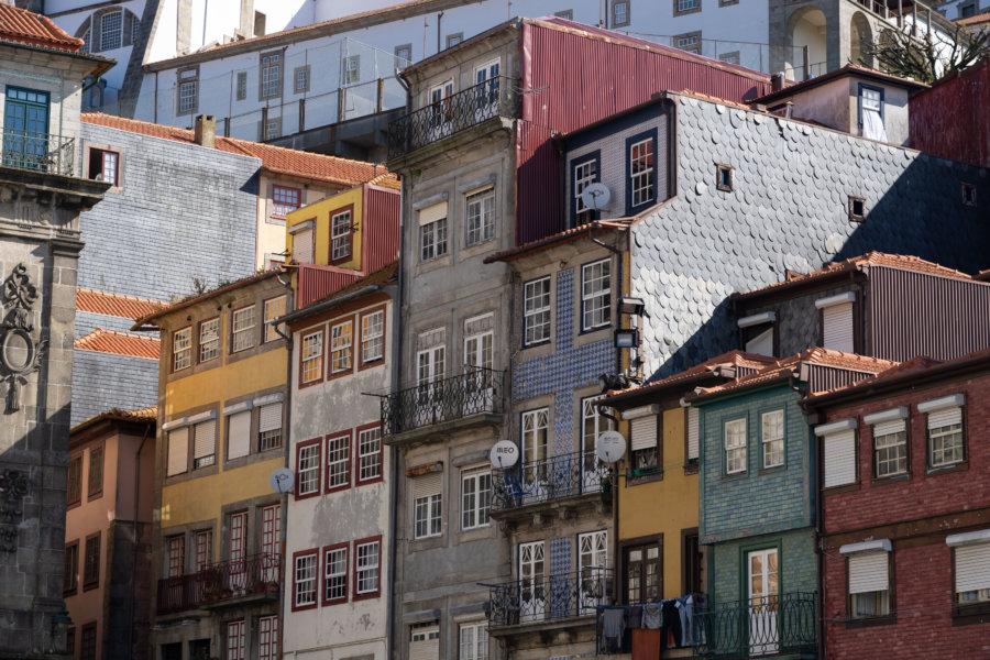Façades de Ribeira à Porto
