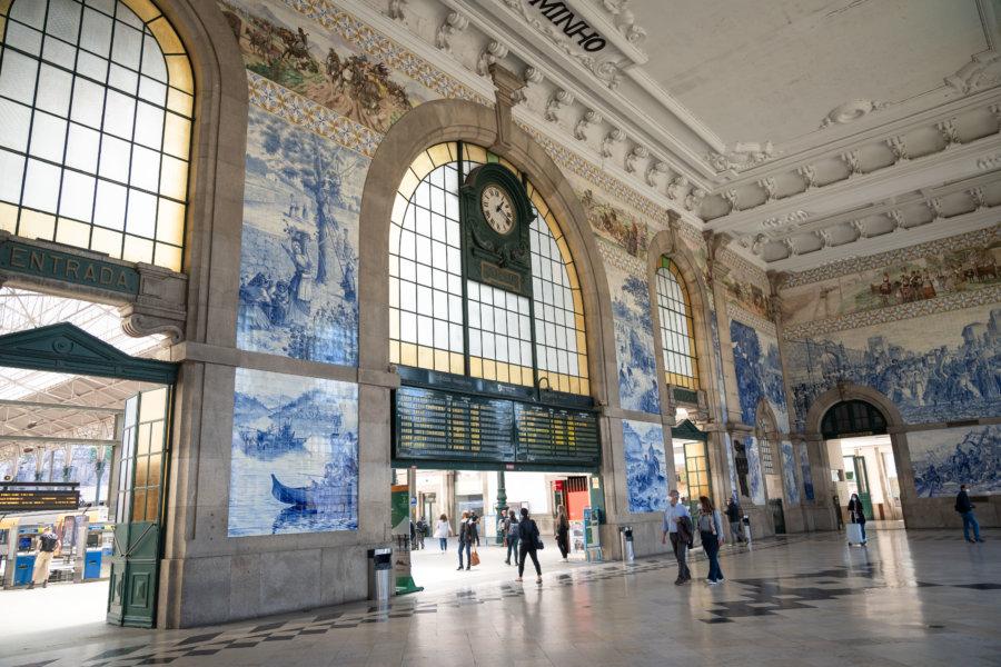 Gare de Sao Bento à Porto et ses azulejos