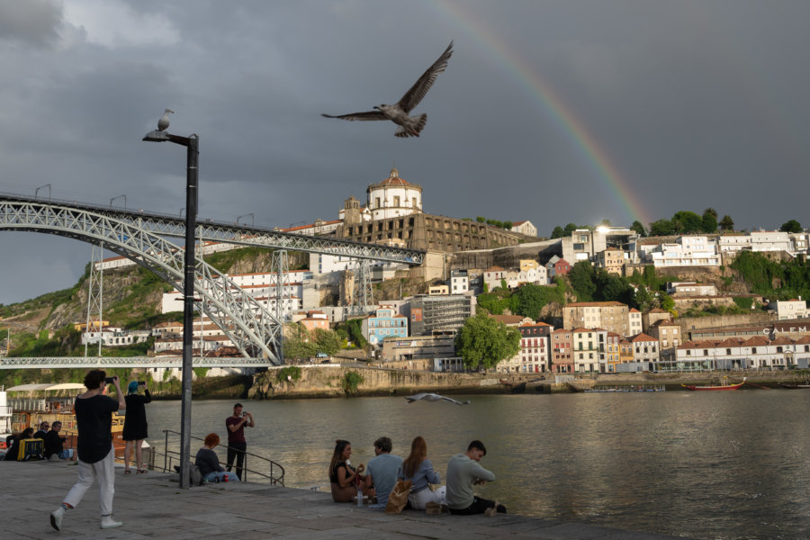 Porto : Douro, arc-en-ciel et goélands