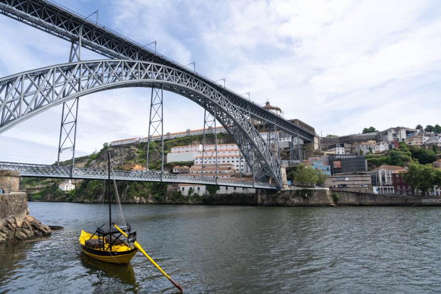 Fleuve Douro et pont Luis Ier à Porto