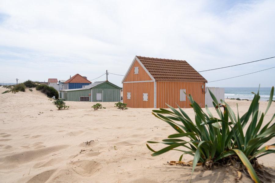 Cabanes de plage, Praia da Cornelia, Caparica