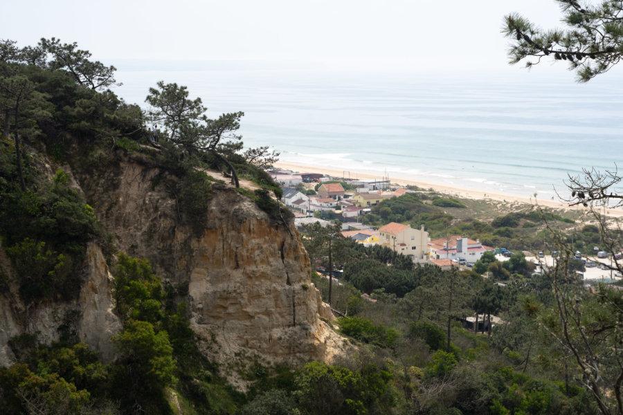 Randonnée sur la côte de Caparica près de Fonte da Telha